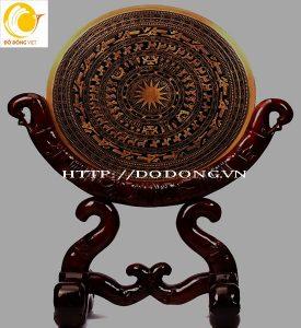 Bán mặt trống đồng đúc trang trí giá gỗ đẹp tại Hà nội