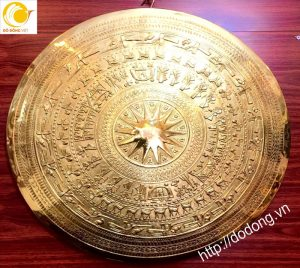 Mặt trống đồng trang trí mạ vàng cao cấp trang trí