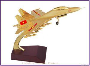 Tranh vàng mô hình hãng hàng không, máy bay để bàn