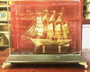 Tàu chiến hải quân,mô hình tàu chiến mạ vàng 24k để bàn