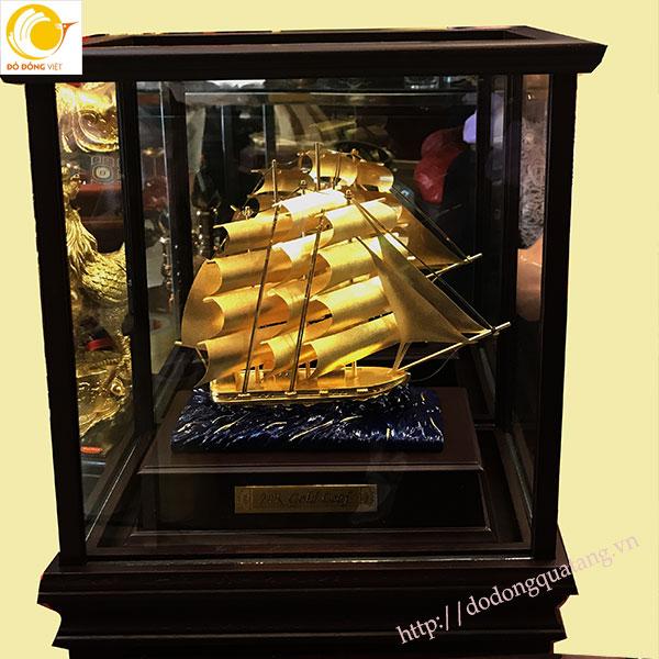 Mô hình thuận buồm xuôi gio dát vàng 3d0