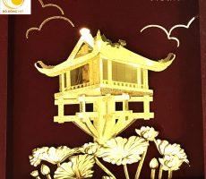 Qùa lưu niệm đặc trưng của Hà nội,chùa một cột dát vàng 24k
