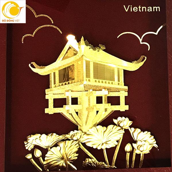 Qùa lưu niệm đặc trưng của Hà nội,chùa một cột dát vàng 24k0