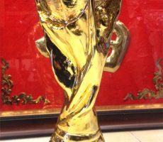 Cúp bóng đá thể giới đúc đồng mạ vàng 36cm