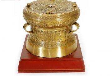 Quà tặng đối tác, Trống đồng mạ vàng, tranh trống đồng, Khuê văn các