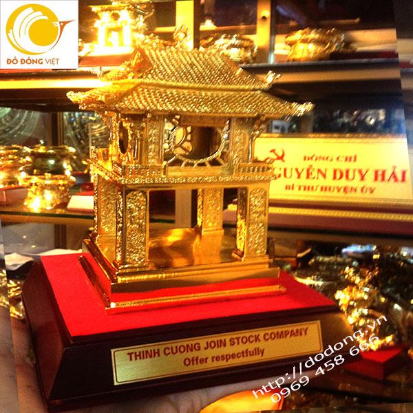 Qùa tặng khuê văn các mạ vàng,tượng văn miếu 25cm0