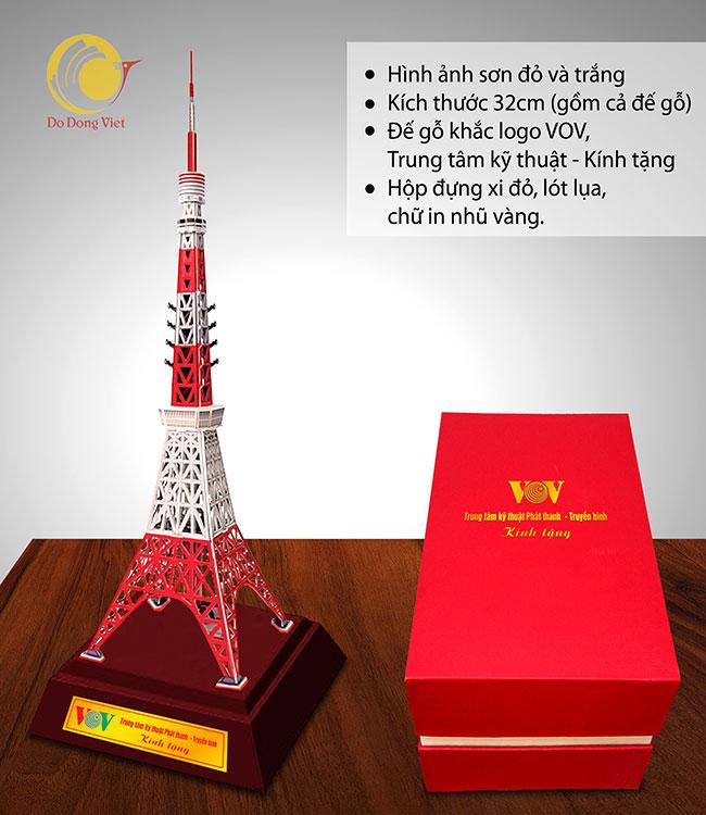 Market quà tặng mô hình khối đồng tháp tokyo nhật bản lưu niệm