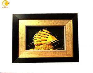 Mua tranh thuyền buồm dát vàng đi khai trương ở đâu