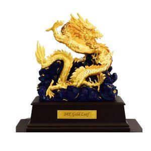 Linh vật rồng phong thủy vàng lá 24k