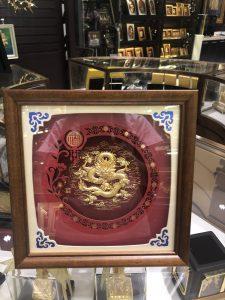 Quà tặng tranh vàng 24k- tranh rồng phong thủy