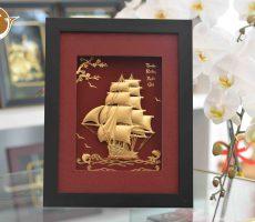 Quà tặng tranh thuyền buồm vàng lá 24k- quà tặng doanh nghiệp ý nghĩa