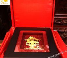 Tranh chùa dát vàng 20cm,nét đẹp đặc trưng của Hà nội