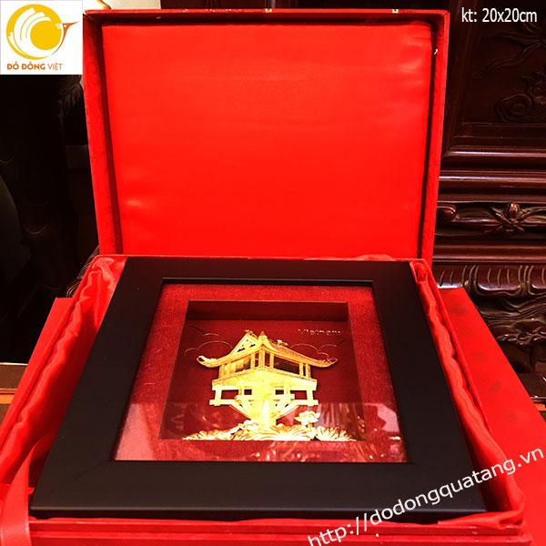 Tranh chùa dát vàng 20cm,nét đẹp đặc trưng của Hà nội0