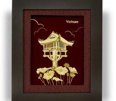 Qùa tặng tranh vàng chùa một cột Hà nội