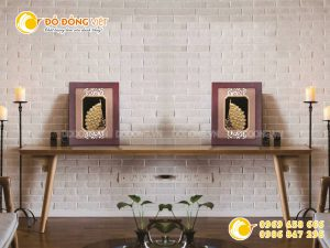 Giá bán tranh chim công vàng lá 3D