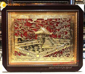Tranh đồng mạ vàng tinh xảo, quà tặng mang đi nước ngoài