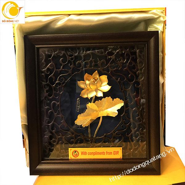 Biểu tượng Quốc hoa việt nam,hoa sen dát vàng 24k 20cm