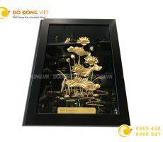 Quà tặng khách VIP- tranh hồ sen vàng 24k