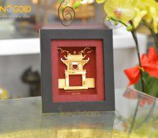 Quà tặng độc đáo cho khách nước ngoài- tranh vàng Khuê Văn Các
