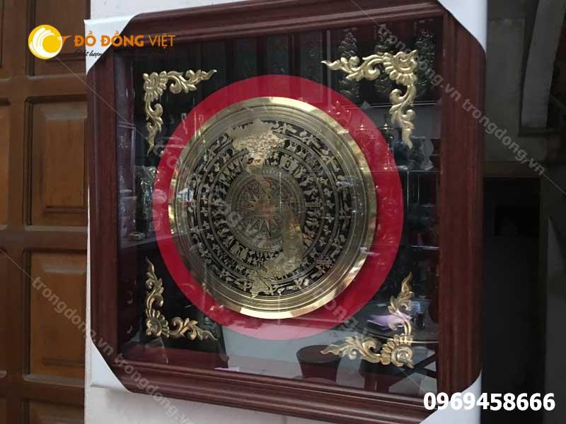 Quà tặng Tranh trống đồng bản đồ Việt Nam giá rẻ0