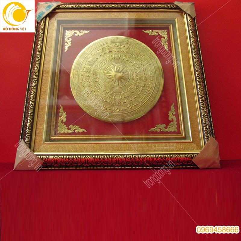 Tranh trống đồng Đông Sơn mạ vàng 24k, quà tặng sự kiện ý nghĩa0