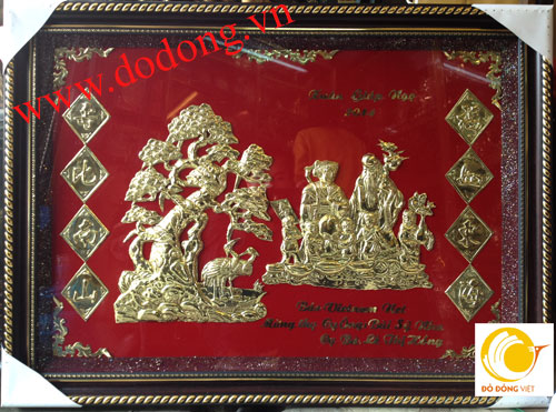 Đồ đồng Việt, địa chỉ mua tranh mừng thọ uy tín chất lượng0