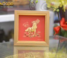 Tranh ngựa vàng 24k mã đáo thành công- quà tặng khai trương hồng phát