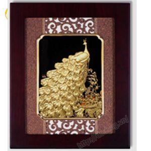 Tranh phượng hoàng đến dát vàng 3d 30x55cm