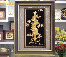Tranh rồng phú quý vàng lá 24k- quà tặng Tết Canh Tý 2020