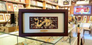 Quà tặng vàng 24k- tranh rồng phú quý