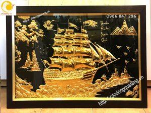 Tranh đồng mạ vàng thuận buồm xuôi gió
