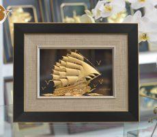 Quà tặng khách hàng- tranh thuyền buồm đẹp tinh xảo từng chi tiết