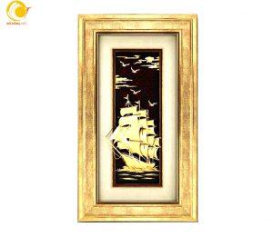 Tranh thuyền buồm quà tặng trang trí 31×54 cm