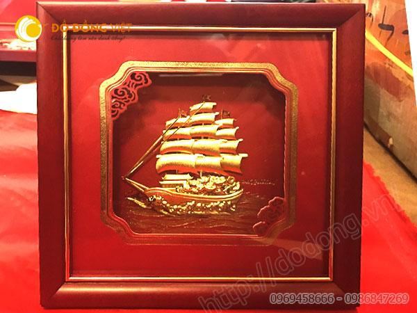 tranh buồm bằng vàng đồ đồng quà tặng