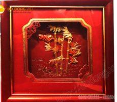 Tranh lá trúc dát vàng 3D, quà tặng khách hàng VIP