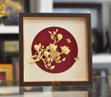 Quà tặng tranh vàng 24k- tranh hoa lan làm quà tặng độc đáo và ý nghĩa