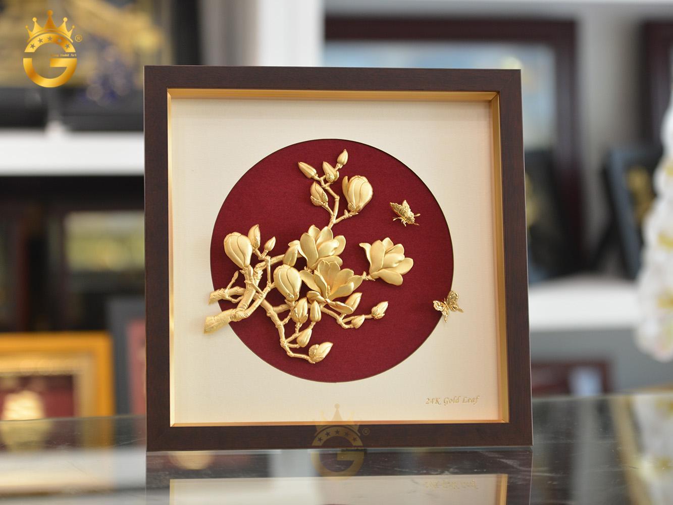 Quà tặng tranh vàng 24k- tranh hoa lan làm quà tặng độc đáo và ý nghĩa0