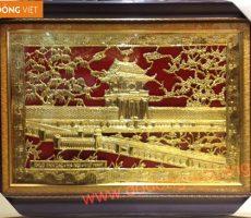 Tranh khuê văn các mạ vàng mạc làm quà tặng