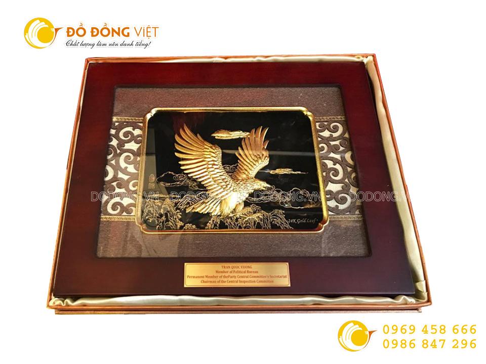 Ý nghĩa tranh vàng lá 3D Đại bàng tung cánh0