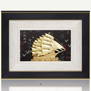 10 mẫu tranh thuyền buồm lưu niệm tại Đồ đồng quà tặng