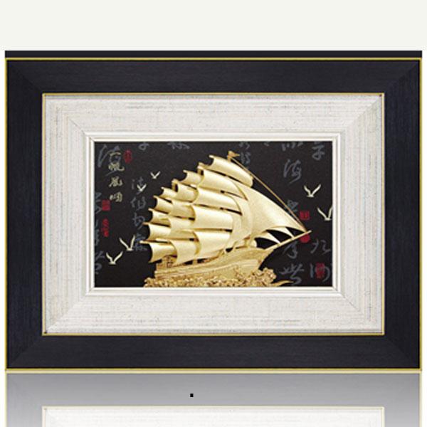 10 mẫu tranh thuyền buồm lưu niệm tại Đồ đồng quà tặng0