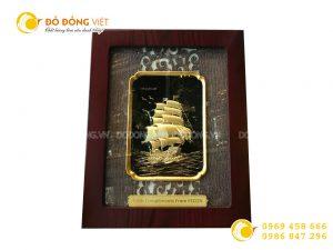 Giá bán tranh thuyền buồm mạ vàng 24k đẹp tinh xảo