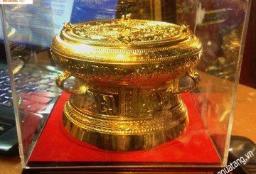Trống đồng mạ vàng Đường Kính ( ĐK ) 13cm – Quà tặng trống đồng