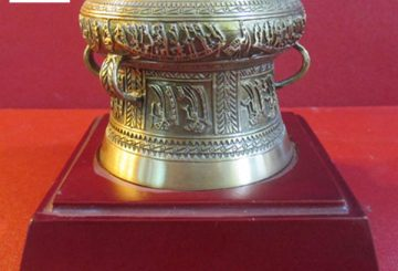 Trống đồng mạ vàng, trống đồng quà tặng và quy trình làm trống đồng