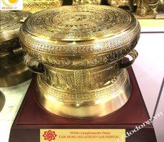 Bộ trống đồng bán làm quà trang trí lưu niệm dk 20cm