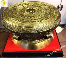 Trống đồng lưu niệm làm quà tặng mô hình trống đồng Đông Sơn dk 25cm