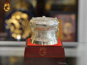 Trống đồng quà tặng mạ bạc làm quà tặng đối tác nước ngoài
