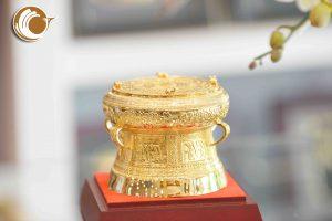 Trống đồng quà tặng đường kính 12cm, quà tặng đối tác nước ngoài