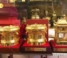 Chọn mua trống đồng mạ vàng giá rẻ tại Hà Nội
