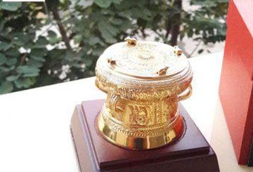 Trống đồng mạ vàng đồ lưu niệm ý nghĩa Việt nam – Trống đồng quà tặng